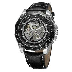 FORSINING Men's Skeleton Fashion Automatic Self-Wind Analogue Dial with Leather Strap WRG8137M3T2 von FORSINING