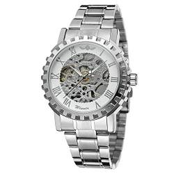 FORSINING Men's Trendy Skeleton Automatic Analogue Watch with Stainless Steel Bracelet WRG8036M4S2 von FORSINING