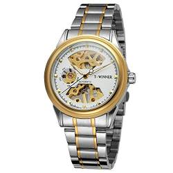 FORSINING Men's Trendy Skeleton Automatic Self-Wind Stainless Steel Bracelet Analog Watch WRG8125M4T2 von FORSINING