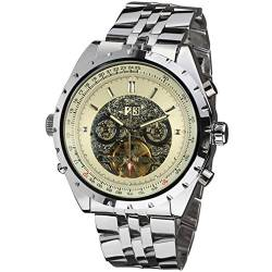 Forsining Men's Automatic Stainless Steel Steampunk Tourbillon Wristwatch JAG212M4S1 von FORSINING