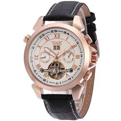 Forsining Men's Automatic Tourbillon Calendar Classic Band Wrist Watch JAG057M3R1 von FORSINING
