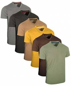 FULL TIME SPORTS® Tech 6 Pack FTS-639 mit V-Ausschnitt T-Shirts (XX-Large, Vint) von FULL TIME SPORTS