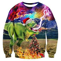 Christmas Sweatshirt Christmas Hoodie Pullover for Men and Women 3D Christmas Prints for Various Holidays and Party,B,XXL von FYN