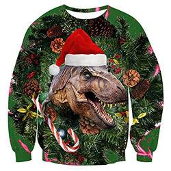 Christmas Sweatshirt Christmas Hoodie Pullover for Men and Women 3D Christmas Prints for Various Holidays and Party,C,XXXL von FYN