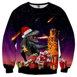 Christmas Sweatshirt Christmas Hoodie Pullover for Men and Women 3D Christmas Prints for Various Holidays and Party,E,M von FYN