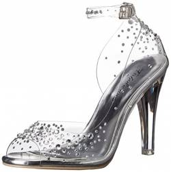 Pleaser Damen Clearly 430Rs Sandalen, Transparent (Clr Lucite), 37 EU (4 UK) von Fabulicious