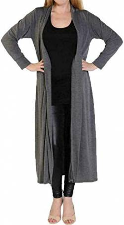 Fast Fashion Frauen Strickjacke Lange Ärmel Plain Boyfriend Lange Offene Maxi von Fast Fashion