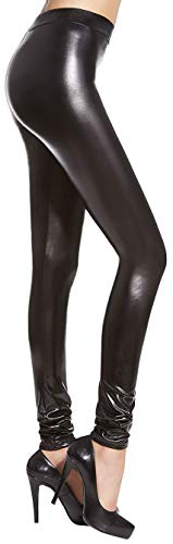 Firstclass Trendstore Leggings in Wetlook Gr. S-L, Leggins Damenhose Hose Damen Jeggings Lederoptik (Niki S) von Firstclass Trendstore
