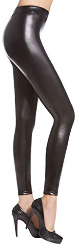 Firstclass Trendstore sexy Leggings in Wetlook Gr. S-L, Leggins Damenhose Hose Damen Jeggings Glanz (Noemi M) von Firstclass Trendstore