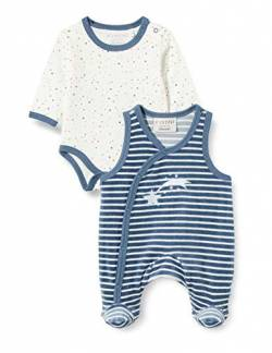 Fixoni Unisex Baby Body Long Sleve with Romper Strampler Set, China Blue, 44 von Fixoni