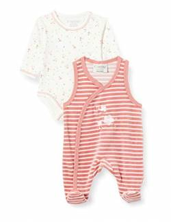 Fixoni Unisex Baby Body Long Sleve with Romper Strampler Set, Dusty Rose, 50 von Fixoni