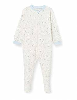 Fixoni Unisex Baby Nightsuit with Zipper and Foot Kleinkind-Schlafanzüge, Lt.Blue, 68 von Fixoni
