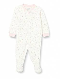 Fixoni Unisex Baby Nightsuit with Zipper and Foot Kleinkind-Schlafanzüge, Offwhite, 56 von Fixoni