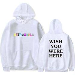 Flyself Herren Damen Astroworld Wish You were Here Hoodies Casual Langarm Kapuzenpullover Sweatshirts Mit Kapuze Hip Hop Sport Pullover Tops von Flyself