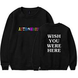 Flyself Unisex Travis Scott Astroworld Wish You were Here Sweatshirts Rundhals Lange Ärmel Loose Hip Hop Pullover Shirt Casual Sweatshirt von Flyself