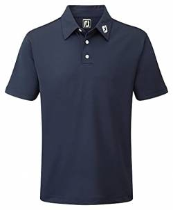 Footjoy Herren Stretch Pique Solid Poloshirt, Blau (Azul Navy 91824), Large von Footjoy