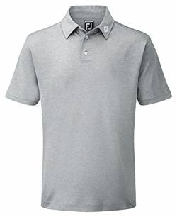 Footjoy Herren Stretch Pique Solid Poloshirt, Grau (Gris 91819), XX-Large von Footjoy