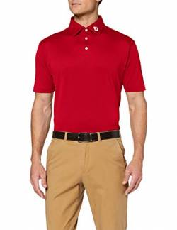 Footjoy Herren Stretch Pique Solid Poloshirt, Rot (Rojo 91825), Large von Footjoy