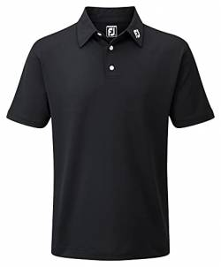 Footjoy Herren Stretch Pique Solid Poloshirt, Schwarz (Negro 91822), Large von Footjoy