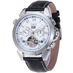 Forsining Men's Automatic Tourbillon Calendar Classic Band Wrist Watch JAG057M3S2 von FORSINING