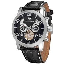 Forsining Men's Automatic Tourbillon Genuine Leather Brand Wrist Watch FSG165M3S4 von FORSINING