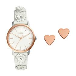 Fossil Damen Analog Quarz Smart Watch Armbanduhr mit Leder Armband ES4383SET von Fossil