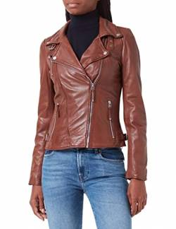 Freaky Nation Damen Biker Princess Jacke, Braun (Dark Cognac 8903), L von Freaky Nation