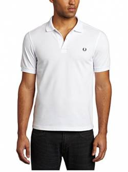 Fred Perry Herren M6000-100-l Poloshirt, Weiß (White 100), Large von Fred Perry