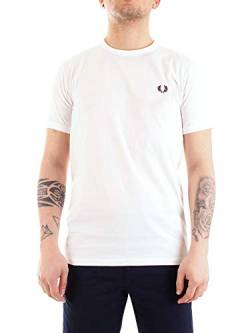 Fred Perry Herren Ringer T-Shirt, weiß, XX-Large von Fred Perry
