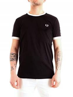 Fred Perry Taped Ringer T-Shirt, T-Shirt - XS von Fred Perry