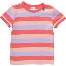 Fred's World by Green Cotton Baby-Mädchen Multi Stripe T-Shirt, Mehrfarbig (Coral 016164001), (Herstellergröße: 98) von Fred's World by Green Cotton