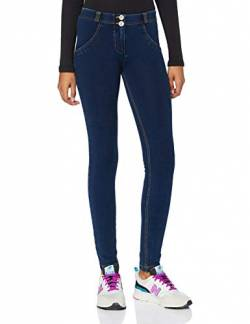 Freddy Damen WRUP1RC002 Leggings, Jeans Scuro-cuciture Gialle, S von Freddy