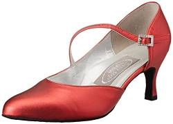 Freed of London Damen Foxtrot Tanzschuh, Red, 18 EU Wide von Freed of London