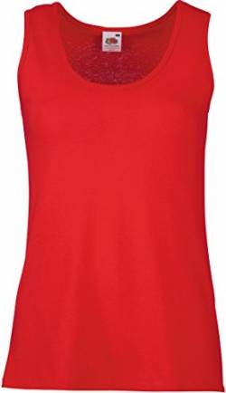 Fruit Of The Loom 61376 Womens Sleeveless Ladies Lady-Fit Valueweight Vest Tank Top - Red - Small von Fruit of the Loom