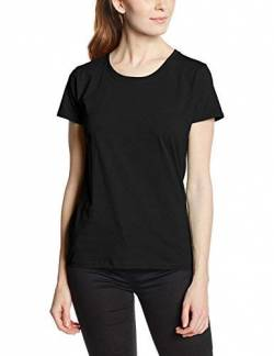 Fruit Of The Loom Damen  T-Shirt SS079M, , Gr. Large, Schwarz (Black) von Fruit of the Loom