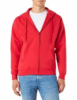 Fruit Of The Loom Herren Premium Kapuzen Sweater Jacke, Rot (Red), Gr. L von Fruit of the Loom