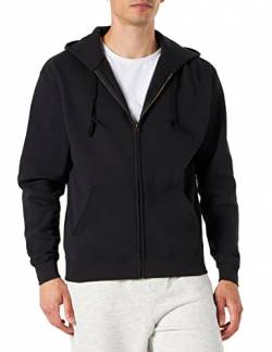 Fruit Of The Loom Herren Premium Kapuzen Sweater Jacke, Schwarz (Black), Gr. L von Fruit of the Loom