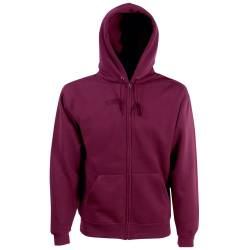 Classic Hooded Sweatjacke - Farbe: Burgundy - Größe: S von Fruit of the Loom