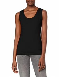 Fruit Of The Loom Lady-Fit Valueweight, Damen Tank-Top,Schwarz (Schwarz 36),Large von Fruit of the Loom