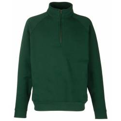 Classic Zip Neck Sweat - Farbe: Bottle Green - Größe: L von Fruit of the Loom