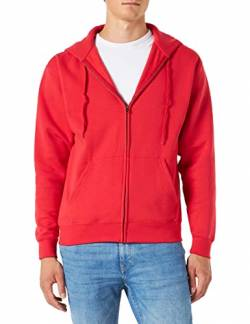 Fruit Of The Loom Herren Premium Kapuzen Sweater Jacke, Rot (Red), Gr. S von Fruit of the Loom