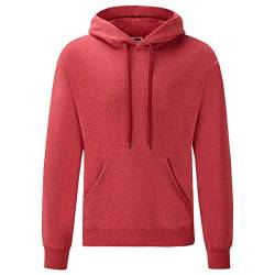 Fruit of the Loom Classic Hooded Sweat, Größe:M, Farbe:Vintage rot meliert von Fruit of the Loom