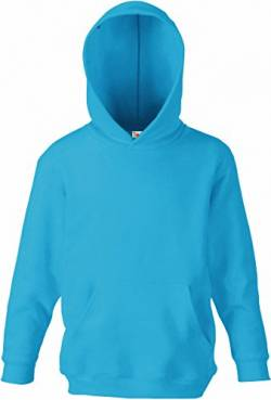 Fruit of the Loom - Classic Kinder Kapuzen-Sweatshirt 'Kids Hooded Sweat' 140,Azure Blue von Fruit of the Loom