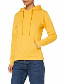 Fruit of the Loom Damen Kapuzenpullover Classic, Gelb - Yellow (Sunflower Yellow) , L von Fruit of the Loom