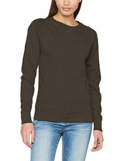 Fruit of the Loom Damen Lightweight Raglan Sweat Lady-Fit T-Shirt, Grau (Light Graphite GL), 36(Hersteller Größe: Small) von Fruit of the Loom