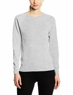Fruit of the Loom Damen Raglan Lightweight Sweatshirt, grau meliert, 46 von Fruit of the Loom