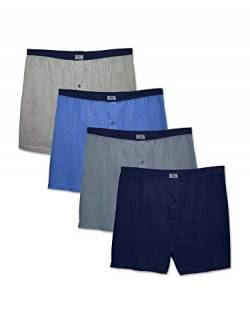 Fruit of the Loom Herren 5 Pack Soft Stretch Knit Boxer Unterwäsche, Sortiert, Large (5er Pack) von Fruit of the Loom