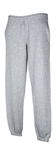 Fruit of the Loom Herren Elasticated Cuff Jog Pants Sport Jogger, Grau (Heather Grey 123), W32 (Herstellergröße: M) von Fruit of the Loom