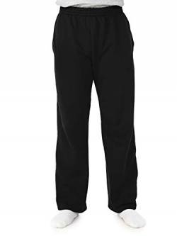 Fruit of the Loom Herren Fleece Pocketed Open-Bottom Sweatpant Jogginghose, schwarz, Mittel von Fruit of the Loom