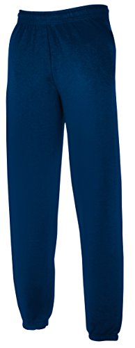 Fruit of the Loom Herren Jog Pant with Elasticated Cuffs Sport Jogger, Blau (Navy 200), W38 (Herstellergröße: XL) von Fruit of the Loom